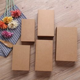 Wholesale cardboard boxes gift packaging - Brown Kraft Paper Drawer Box Wedding Birthday Party Favor Gift Candy Cardboard Boxes Rectangle Package Case For Scented Tea 1hj5 YY