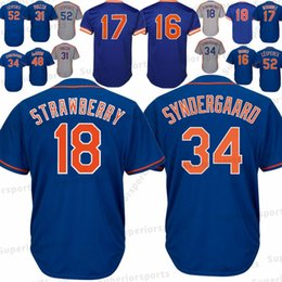 611cf58f9 New York Mets 18 Darryl Strawberry Jersey 16 Dwight Gooden 17 Keith  Hernandez 34 Noah 31 52 Yoenis Cespedes Baseball Jerseys High quality