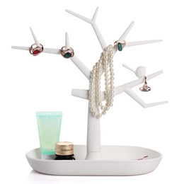 Wholesale Display Stand For Glasses - New Multifunctional Tree Branch Shape White color Jewelry Display Earring Bracelet Necklace Ring Display Stand for Earrings