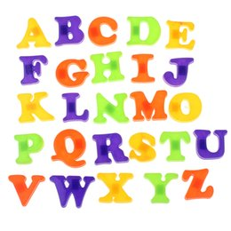 Wholesale Magnetic Alphabet Stickers - 2015 New Fashion Fridge Magnet Sticker Baby Child Toy A-Z Educational Alphabet 26 Letters Freeeshipping