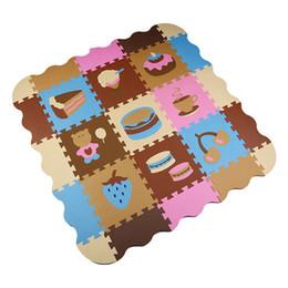 Wholesale Carpets For Children - Children soft eva puzzle mat baby play carpet cake cartoon eva foam play mat,pad floor for kids games rugswith SGS