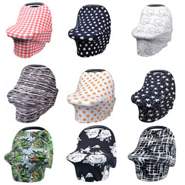 Wholesale shopping covers - Multi-Use Baby Nursing Cover Breastfeeding Cover Privacy Scarf Blanket Infinity Scarf Baby Car Shopping Cart Cover Multi Color Express