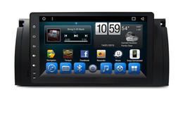 Unidade de navegação na tela de toque on-line-Unidade da cabeça estereofónica da navegação do sistema da música do carro da tela de toque de 9,0 polegadas para o Bmw E39 OBD / TPMS / Mirror-Link