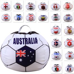 Wholesale Country Bags - 32 Team Country Storage Bags For 2018 World Cup Football Children Plush Stuffed Toys Organization Bags For Blanket Towel Dress Up WX9-548