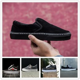 Wholesale white black custom casual - VANS X AMAC Customs Women Men Skateboarding Shoes Rose Embroidery Sports Shoes Casual Sneakers size 35-44