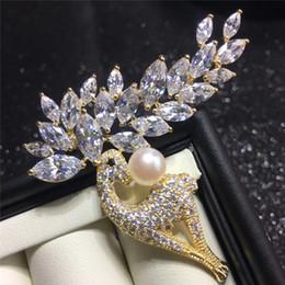 Spille di marca per la signora 2019 Hot Fashion CZ Crystal Elk Brooch animale Boutonniere Pins gioielli spedizione gratuita da