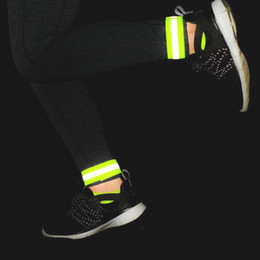 Wholesale Wrist Ankle Bands - Outdoor Running Night 1 Pair Set Autumn Sports Cycling Reflective Wrist Ankle Straps Emergence Safety Warning Bands