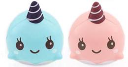 brinquedo azul do unicórnio Desconto Squishy Unicorn Mini Baleia Creme Scented Squeeze Lento Rising Brinquedo Engraçado Squeeze brinquedos Presente Das Crianças rosa Azul cor