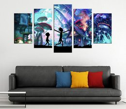 Wholesale Panel Artwork - Rick and Morty Canvas Prints Wall Art Decor Poster Abstract Landscape Picture Modern Artwork for Living Room Bedroom Home rick 12