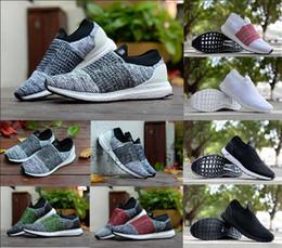 2018 Оптовая UltraBOOST Laceless носки Ultra BOOST Laceless повседневная обувь для высокое качество черный Сплит Белый Мужчины Женщины Trainner спортивная обувь cheap shoe socks wholesale от Поставщики обувные носки оптом