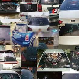 2020 vinyl-auto-aufkleber druck Großhandel 127cmx 70cm Heckscheibe Aufkleber Aufkleber Kult Film One Way Vinyl-Auto-hinteres Fensterglas Fotografie Printed Film Tint rabatt vinyl-auto-aufkleber druck