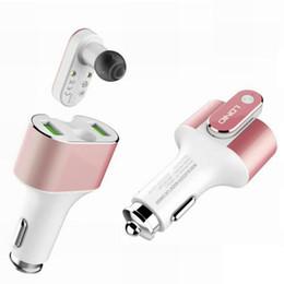 LDNIO 2 en 1 kit de coche con auricular y cargador Bluetooth en el oído Auriculares inalámbricos Auriculares con doble cargador USB rápido para Iphone Samsung desde fabricantes