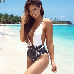 Wholesale Bathing Wear - 2018 Newest Hot Swimsuits One-pieces Swim Wear Womens Trikinis High Cut Push Up Bathing Suits Sexy Deep V Swim Suits One Pieces