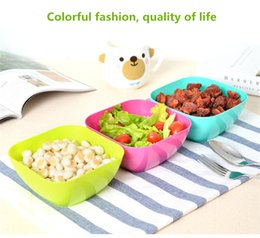 Wholesale Food Bowls - Wholesale Food grade plastic square fruit plate salad bowl melon fruit plate small snack candy dish dried fruit bowl