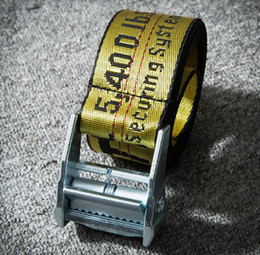 Wholesale Iron Letters Black - 2018 new fashionable high quality canvas belt designer brand men's leisure multi-colored canvas off belt men and women.