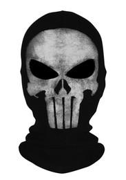 2019 schädel biker gesicht masken Neu The Punisher Schädel Balaclava Maske Cosplay Gesichtsmaske Halloween CS Biker günstig schädel biker gesicht masken