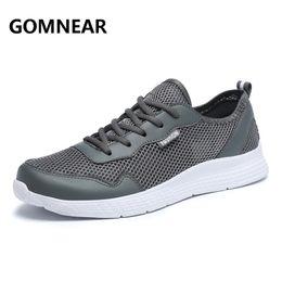 607557e279fdf Zapatillas de deporte para hombre GOMNEAR Zapatillas cómodas para caminar  Caminar al aire libre Botas de peso ligero Negro Tamaño grande FreeShipping  Shoes ...
