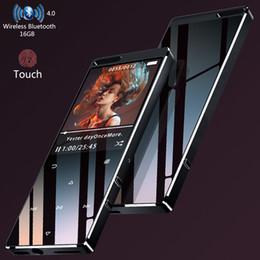 2019 reproductor de música mp3 con pantalla táctil HiFi MP3 Player With Bluetooth4.0 1.8In Screen 16GB Touch Key Sin pérdida de música Reproductor de música con FM, Rcording, soporta hasta 64GB rebajas reproductor de música mp3 con pantalla táctil