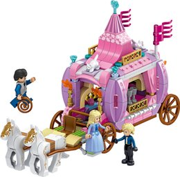 Wholesale princess building blocks - The princess romantic royal carriage Building Blocks Girl Kids Toys Compatible with Block Toys