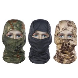All'ingrosso-Camouflage Full Face Mask Quick-dry Hood Caccia Tattico Foulard Balaclava Outdoor Bike Ciclismo Inverno Warm Face Mask Hat da cappelli di caccia all'ingrosso fornitori