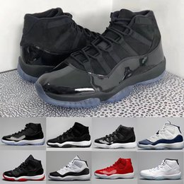 Wholesale Basket Shoes - 11 Prom Night Black Out PRM Heiress WIN LIKE 82 96 Space Jam 45 Men Women Basketball Shoes 11s Athletic Sports Sneakers
