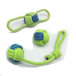 Wholesale Dog Ball Rope Toys - 3pcs Cotton Dog Rope Toy Knot Puppy Chew Teething Toys Teeth Cleaning Pet Palying Ball For Small Medium Large Dogs