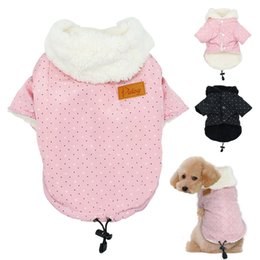 yorkie clothing Coupons - 2 Color Warm Clothes for Dogs Winter Small Dog Coat Jacket Hooded Cat Puppy Chihuahua Yorkie Pet Dog Clothing Ropa Para Perros S M L XL