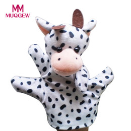 Wholesale frog elephant - Cute Mouse Elephant Dog cow Duck Frog Panda Children Animal Hand Puppet Toys Kawaii Hand Puppets Toys for children