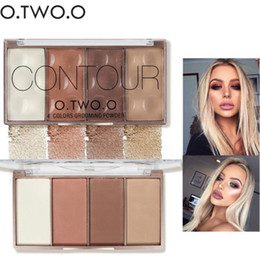 12 paleta de sombra online-drop ship 12 piezas / lote O.TWO.O Contour Bronzer Face Shading Powder Palette Highlighter Maquillaje Face Contouring Grooming Powder Prensado