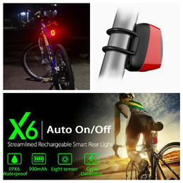 Wholesale Cycling Rear Rechargeable Light - LED Bike Bicycle Tail Light Bike Cycling Rear Light Waterproof Mountain Bike Taillight Warning USB Rechargeable Lamp EEA228