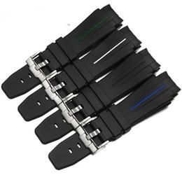 алюминиевый Скидка 21 мм Мягкий силиконовый каучук ремешок для часов Rolex смотреть DeepseaStrap браслет ремешки