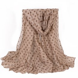 Wholesale leopard print scarves wholesale - Lightweight Soft Women Scarf Winter Warm Fashion Leopard Printing Polyester Coffee Thick Shawls Scarf Plus 180*100cm