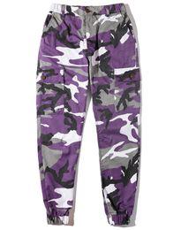 Wholesale women cargo camouflage - Spring Autumn Camouflage Men's Cargo Pants Pink Full Length Multy Camo Hip Hop Pants Men Women Streetwear Toursers Men M-2XL
