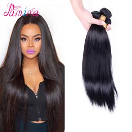 PAMINA Filipinli Bakire Saç Düz 3 adet Annabelle Saç 8A Işlenmemiş Bakire Filipinli Insan Saç Dokuma Doğal Renk içinde Boyanabilir 8 ~ 30