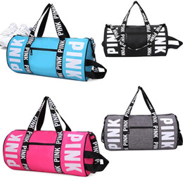 Wholesale Pc Exercise - PINK Style Boys & Girls Handbags Shoulder Bag Outdoor Travel Duffel Bag Casual Beach Exercise Women Gym Luggage Bags 10 pcs