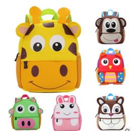 82b811013ad9 Children 3D Cute Animal Design Backpack Toddler Kid cute zoo School Bags  Kindergarten Cartoon Comfortable Bag Giraffe Monkey Owl