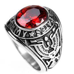 2306ec953b22 2019 anillo para hombre piedra negra Punk acero inoxidable anillo de los hombres  de plata plateado