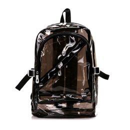 Zaino impermeabile di plastica trasparente della borsa della piccola gelatina dello zaino degli zaini per le borse delle spalle dei sacchetti di scuola del PVC delle ragazze adolescenti trasporto libero cheap small girls school bag da borsa piccola scuola ragazze fornitori