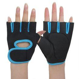 Wholesale Hat Scarf Glove Sets Women - New Fashion Men Women Fitness Gloves Semi Half Finger Gloves Hand Protection