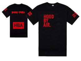 Camisas trilhas on-line-Nova camiseta de verão HBA camiseta Hood By Air HBA X sido Trill Kanye West camiseta 100% algodão frete grátis