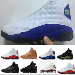 Wholesale Cheap Patent - 2018 retro 13 man basketball shoes new arrived Olive Hyper Royal Altitude sneaker shoes cheap Bordeaux sport Training shoes
