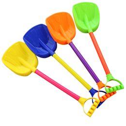 Pala de plástico de playa online-Envío gratis 10 juguetes de playa para niños Espesa grande Jugando dragado Herramientas de Spading Playa de arena Pala de plástico