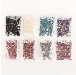 Wholesale 3d crystal nails - 1000pcs bag 4mm Rhinestones Crystal Clear AB Non Hotfix Flatback Nail Rhinestoens For Nails 3D Nail Art Decoration Gems