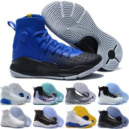 Wholesale Fun Fall - MVP Currys 4 Men Basketball Shoes More Dimes Dubs Buckets Fun Rings Magic Range Black White Stephen 4 Athletics Sports shoe Sneaker 40-46