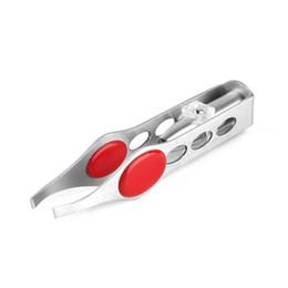 Wholesale Mini Tweezers - LED Eyebrow Tweezer Mini Light Eyelash Removal Tweezer Clip Make Up Beauty Tool Stainless Steel Eyes Hair Remover Tweezers New 3001056