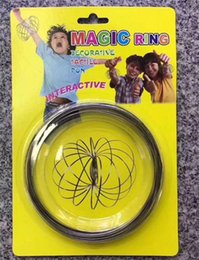 Wholesale Create Bracelets - Magic Ring Metal Toroflux Flow Ring Decompression Toys Holographic by While Moving Creates a Ring Flow Toys Flow Bracelet with package