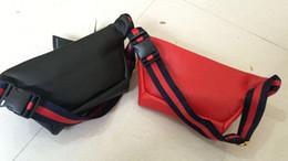 Wholesale shoulder tops women - 2018 NEW TOP pu men's shoulder luxury bag designer Cross Body Satchel women handbag small pouch beige canvas Waist Bags #6658