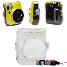 Wholesale fuji instant mini - For Fujifilm Instax Mini 70 Fuji Instant Film Camera Protective Crystal Clear Carrying Case Hard Cover Bag With Shoulder Strap