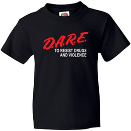 Wholesale Cool Cheap Tees - Officially Licensed DARE Classic Graduation Shirt Retro 100% Cotton Print Shirt Tee Cotton Shirts Cheap Wholesale Tops Cool T Shirt