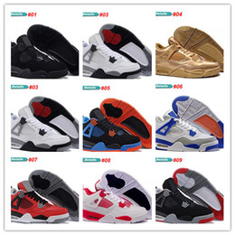 Wholesale fire football - 2017 Wholesale top quality 4s white cement Bred Fire red 4 Men Basketball Shoes sneakers sports Size 8.0-13